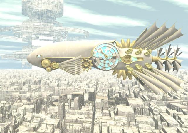 時の飛行船
